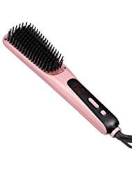 Hair Straightening Brush, Ceramic Hair Straightener Brush Hair Straightening Comb for Women with Ionic MCH Technology   Faster, Safer Results   Auto Temperature Lock, Off Function by ETEREAUTY