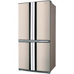 Sharp SJ-F78PEBE nevera puerta lado a lado Independiente Beige 605 ...