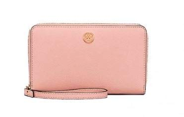 ab1aaafca26f Image Unavailable. Image not available for. Color  Tory Burch Robinson  Leather Smartphone Wristlet ...
