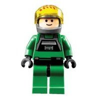 Lego Star Wars A-Wing Pilot Minifig 7754 From Mon Calamari Home One - Lego 7754