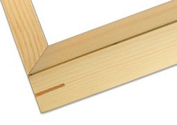 Ambiance Gallery Wood Picture Frame for Stretched Canvas, Artist Panels and Art Boards [Single Frame] 9x12