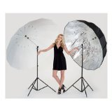 Lastolite LL LU7915F Mega Umbrella Kit with Frame and 1 Translucent/Silver Parabolic Cover (Multicolor)
