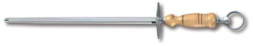 Victorinox Honing Steel 14-Inch Round Regular Cut, Light Wood Handle
