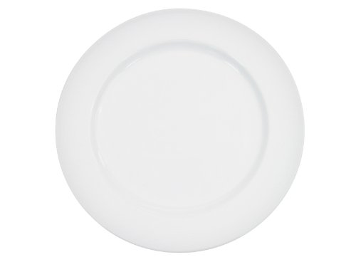 CAC China HMY-6 6-1/4-Inch Harmony Porcelain Plate, White, Box of 36 by CAC China