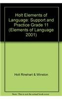 Elements of Language, Grade 11 Support and Practice: Holt Elements of Language (Elements of Language 2001) pdf epub