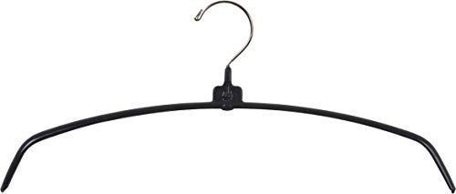 - Black Rubberized Ultra-Thin Metal Hangers, Space Saving Arched Top Hangers with Vinyl Non-Slip Coating & Chrome Hook (Set of 25) by The Great American Hanger Company