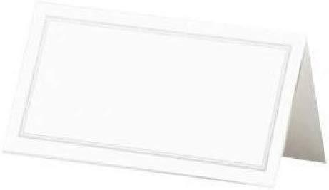 wwzEITpV Paquet de 50 Blanc et Table dargent fronti/ère de Mariage Nom Place Cartes Accueil Fournitures