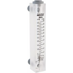 Blue And White (F-55500L) 0.5 - 5 GPM Flow Meter; 1/2'' MPT