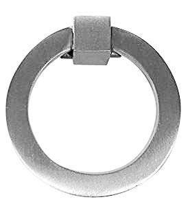 - 4 PACK 3 Inch Mission Style Solid Brass Cabinet Ring Pull (Brushed Nickel)