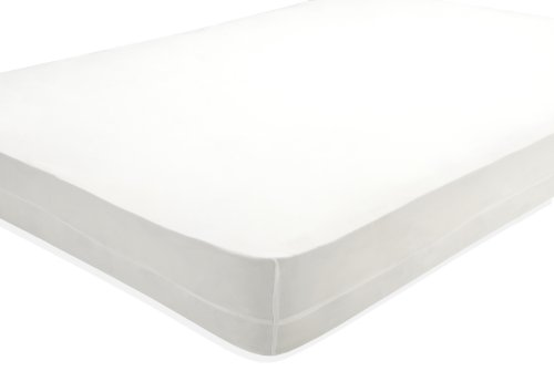 HealthGuard FDA/Health Canada Registered Bed Bug Protection Mattress/Box Spring Encasement, Twin, White
