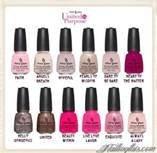 China Glaze Nail Lacquer Polish UNITED IN PURPOSE Breast Cancer Awareness 12 pc Purpose Breast