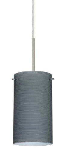 Besa Lighting 1BC-4404TN-SN 1X50W E12 Stilo 7 Pendant with Titan Glass, Satin Nickel Finish ()