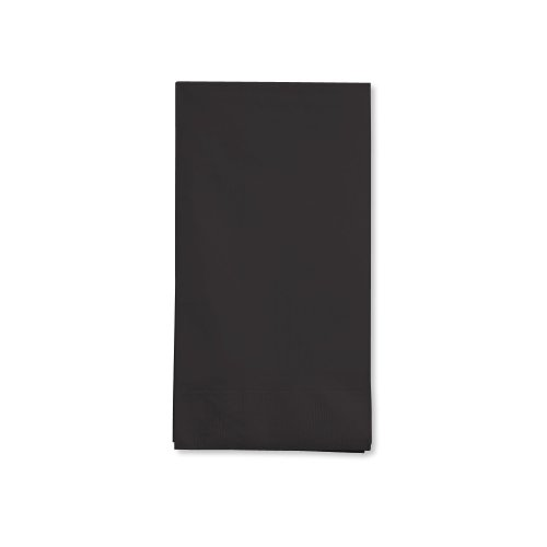 16-Count Touch of Color 3-Ply Paper Guest Napkins, Black (Creative Halloween Dinners)