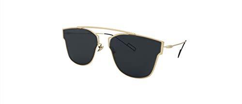 sunglasses reflective sunglasses big box fashion tide brand ladies sunglasses,Black + gray piece