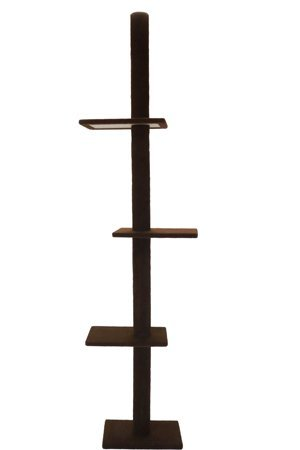 Coupe Tree - Cat Craft 12400301DCCOM Three Tier Floor-to-Ceiling Cat Tree, Dark Chocolate Brown