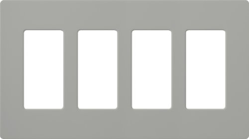 (Lutron CW-4-GR CLARO WALLPLATE 4 GNG GR Electrical Distribution Wall Plate, 1 Pack, Gray)