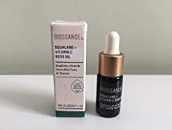 BIOSSANCE Squalane + Vitamin C Rose Oil, Deluxe Mini, 0.13 oz