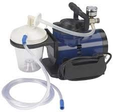 """Heavy Duty Mucus Secretion Machine For Home Use Includes 800 cc suction canister, 6' suction tube, 10"""" suction canister tubing, hydrophobic filter - Home Use Aspirator"""
