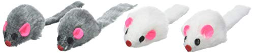 Ruff N Tumble Catnip Mice, 4 Pieces