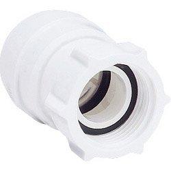 Jg Speedfit Female Coupler Tap Connector - White, 15mm x 1/2 Bsp 2 Pack