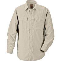 Gravel Gear UPF 30 Quick-Dry Polyester Ripstop Shirt - Long Sleeve, Sandstone, Medium