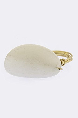 THE JEWEL RACK NATURAL STONE ACCENT RING (White)