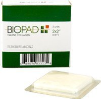 "Biopad Collagen Dressing 2"" x 2"" [Box of 3]"