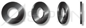 (300LB) #8, Flat Washers, SAE, Steel, Black Zinc Ships FREE in USA by Aspen Fasteners