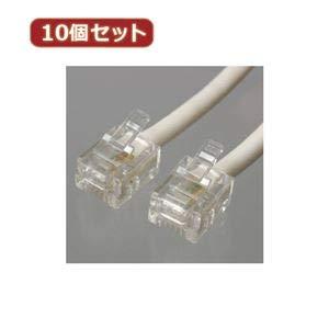 YAZAWA 10個セットツイストモジュラーケーブル 10m 白 TP3100WX10 B07PGDDNQJ