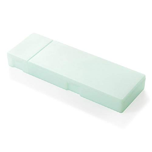 - Pencil Case Multi-function Translucent Frosted Matte Pen Storage Case Pencil Holder Stationery Box Green