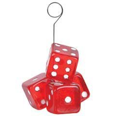 Red Dice Balloon Weight ()