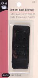 Dritz Bulk Buy Bra Back Extender 1 1/4 inch Wide Black 2 Hooks 56620 (6-Pack) by Dritz