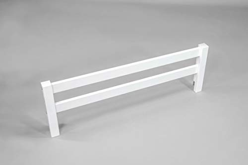 Wooden Bed Rails - Wooden Safety Bed Guard Rail for Toddler and Childen's Beds (White)