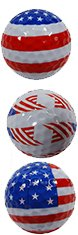 Collection Golf Balls (Trio Collection Novelty Golf Balls / US Flag / By Paragon)