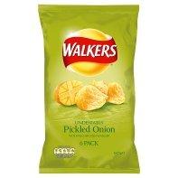 Walkers Crisps 6 Pack (Pickled Onion) (Onion Crisps)