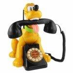 Posantel KXT-876 Cartoon Dog Bite Receiver Design Telephone (Yellow)