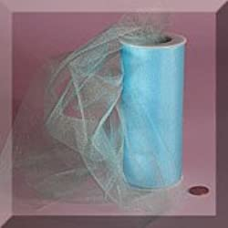 "Light Blue 6"" X 25 Yds Glimmer/shimmer Tulle Roll"