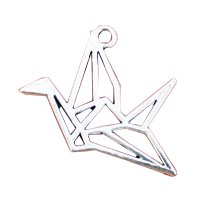 Crane Charms Antique Silver Tone 2 Sided - Silver Tone Bird Shopping Results