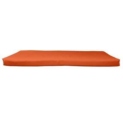 BHG PU6018B1069 Sunbrella Designer 5' Bench Cushion with Fabric Ties, Spectrum Cayenne (Sunbrella Bench Cushion)