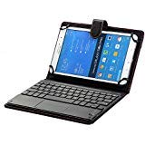 Samsung Galaxy Tab Active 2 Keyboard Case, Universal 8.0'' to 8.9'' Tablet Keyboard Folio Case, Synthetic Leather Cover with Bluetooth Keyboard (TOUCHPAD Mouse) for 8.0'' Samsung Galaxy Tab Active 2