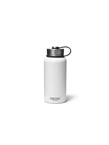 Bauer Water Bottle - Eddie Bauer Unisex-Adult O2Cool 32-oz Sequoia Bottle, White Regular ONESZE