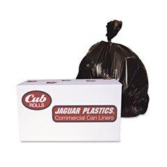 Jaguar Plastics D38634BN Industrial Drum Liners, 2.7mil, 38 x 63, Black, 50 Bags/Roll, 1 Rolls/CT