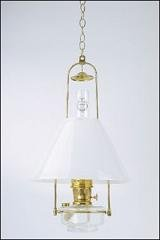 Aladdin Mantle Lamp Co. Lamp - BH715-716 Clear Tilt haning Lamp with 14'' Glass Shade