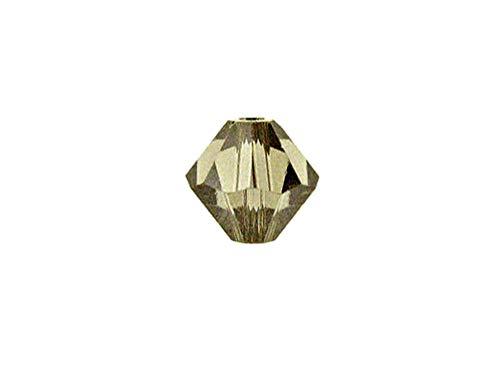 Swarovski Crystal, 5328 Bicone Beads 8mm, Greige, Wholesale Packs | Pack of 18 (Bicone Greige)