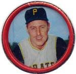 1963 salada tea coins (Baseball) Card# 14 Bill Mazeroski of the Pittsburgh Pirates Ex Condition