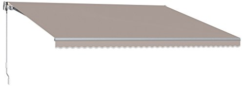 Beauty-Mark MTL12-A-TP 12' Maui Model 100 Left Motor/Remote Retractable Awning, 120