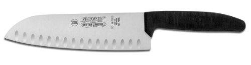 Dexter Russell Duo Edge Black Handle Sofgrip Santoku Style Knife, 7 inch -- 1 each. (Knife Dexter Santoku Russell)