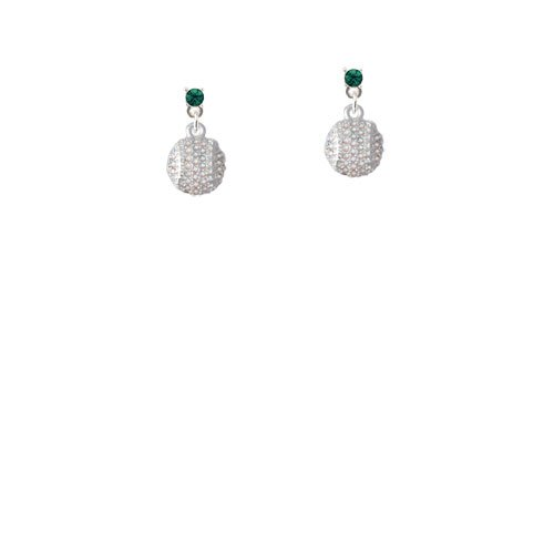 26587472a Amazon.com: Small Sparkle Clear AB Softball Clear Crystal Post Earrings:  Jewelry