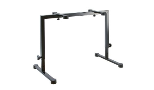 K&M Stands K&M - Table-style keyboard stand - Omega - black (18810.015.55) (Best Keyboard Stand For Gigging)