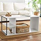 Mainstays Kalla Wood and Metal Coffee Table (White)